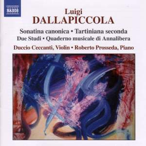 Luigi Dallapiccola: Complete Works for Violin & Piano, and for Piano Product Image