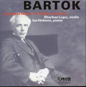Bartok - Complete Works For Violin & Piano