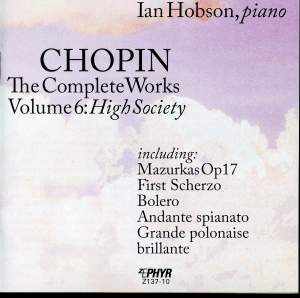 Chopin: The Complete Works, Vol. 6, 'High Society'