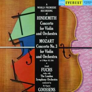 Hindemith: Violin Concerto & Mozart: Violin Concerto No. 3