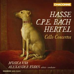 Hasse, CPE Bach & Hertel: Cello Concertos Product Image