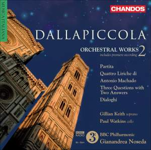 Dallapiccola - Orchestral Works Volume 2 Product Image