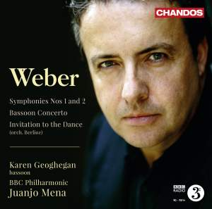 Weber: Symphonies Nos. 1 and 2 & Bassoon Concerto Product Image
