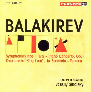 Balakirev: Symphonies Nos. 1 & 2, Piano Concerto & other orchestral works Product Image