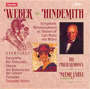 Weber: Overtures & Hindemith: Symphonic Metamorphosis on Themes by Carl Maria von Weber