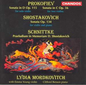 Prokofiev, Schnittke & Shostakovich: Works for one and two violins