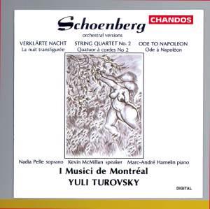 Schoenberg: Orchestral Versions of String Quartet No. 2, Op. 10, Verklärte Nacht, Op.4 & Ode to Napoleon, Op. 41 Product Image