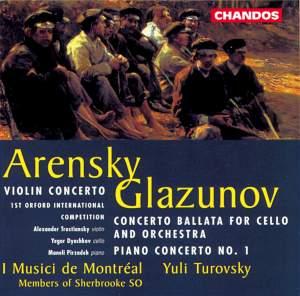 Arensky & Glazunov - Concertos
