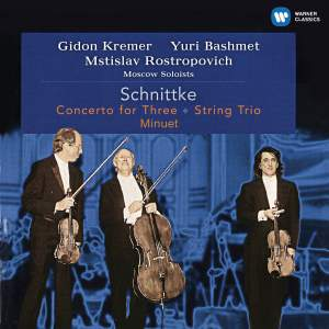 Schnittke: Concerto for Three, String Trio & Minuet Product Image