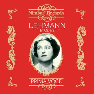 Lotte Lehmann in Opera Vol.1