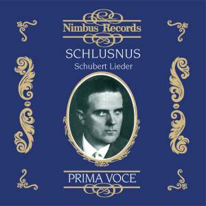Heinrich Schlusnus - Schubert Lieder