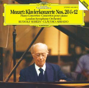 Mozart: Piano Concertos Nos. 20 and 12