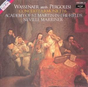 Wassenaer: Concerti Armonici Nos. 1-6 (formerly attributed to Pergolesi) Product Image