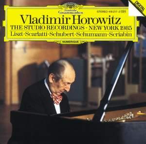 Vladimir Horowitz - The Studio Recordings New York 1985 Product Image