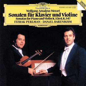 Mozart: Violin Sonatas K.526 & 547