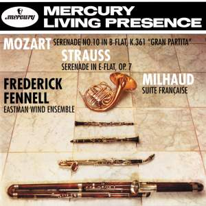 Mozart, Strauss & Milhaud: Works for wind ensemble Product Image
