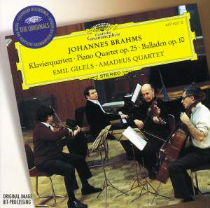 Brahms: Piano Quartet No. 1 & Ballades Product Image