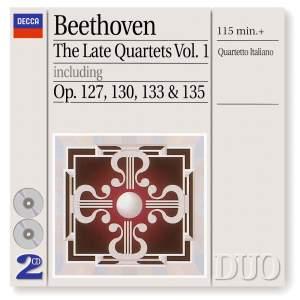 Beethoven - Late String Quartets Volume 1