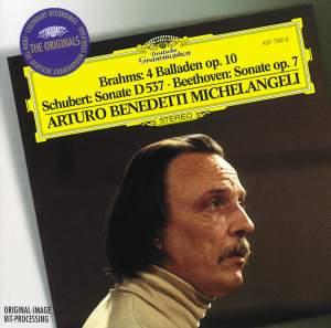 Brahms: Ballades and Schubert & Beethoven: Piano Sonatas