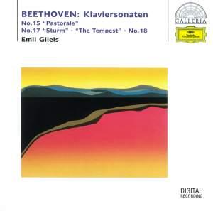 Beethoven: Piano Sonatas No. 15 'Pastorale', No. 17 'The Tempest' & No. 18