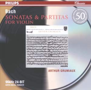 JS Bach: Sonatas & Partitas for solo violin, BWV1001-1006