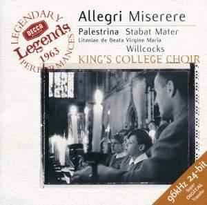 Allegri: Miserere & Palestrina: Stabat Mater & other choral works