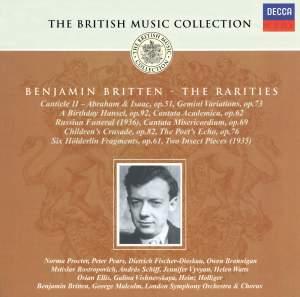 British Music Collection - Benjamin Britten - The Rarities