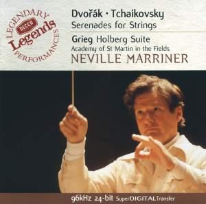 Dvorak & Tchaikovsky: Serenades for strings & Grieg: Holberg Suite