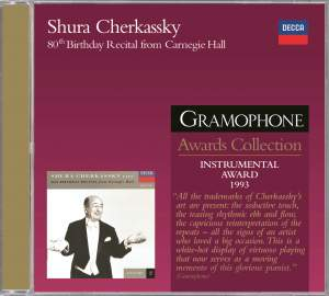 Shura Cherkassky - 80th Birthday Recital from Carnegie Hall