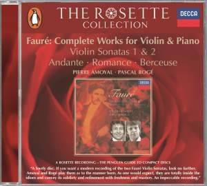 Fauré - Complete Works for Violin and Piano