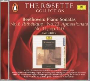 Beethoven: Piano Sonatas Nos. 8, 23 and 31