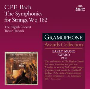 Bach, C P E: Hamburg Symphonies (6) for Strings, Wq. 182 (H657-662)