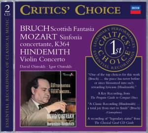 Bruch: Scottish Fantasy, Mozart: Sinfonia Concertante, Hindemith: Violin Concerto