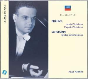 Brahms: Handel Variations, Paganini Variations & Schumann: Études symphoniques