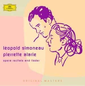 Léopold Simoneau & Pierrette Alarie: Opera recitals and lieder