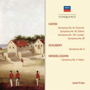Haydn, Schubert & Mendelssohn: Symphonies