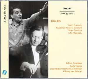 Brahms: Violin Concerto, Academic Festival Overture, Tragic Overture Product Image