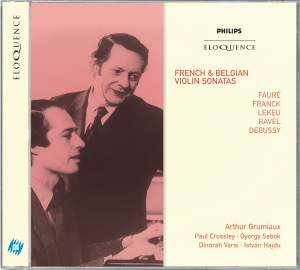 French & Belgian Violin Sonatas
