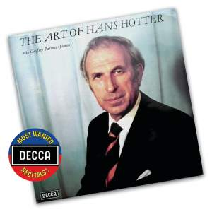 The Art of Hans Hotter Vol. 1