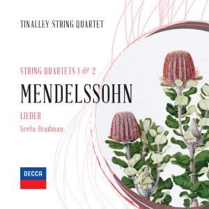 Mendelssohn: String Quartets Nos. 1 & 2 Product Image