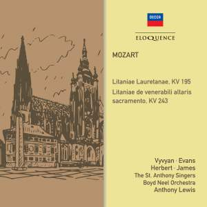 Mozart: Litanies, KV195 & 243