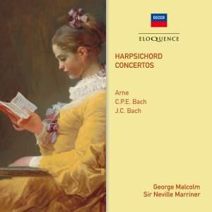 Arne, CPE Bach & JC Bach: Harpsichord Concertos