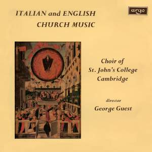 Italian & English Church Music