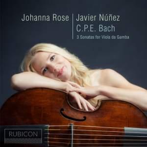 CPE Bach: 3 Sonatas for Viola da Gamba Product Image