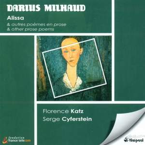 Milhaud: Alissa and other prose poems Product Image