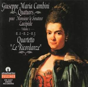 Giuseppe Maria Cambini: Quatuors Pour Monsieur Lacépède, Vol.1 Product Image