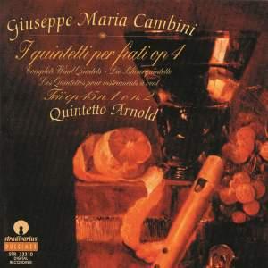 Cambini : I quintetti per fiati Op.4, Trii No.1,No.2 per Flauto Oboe e Fagotto Op.45 Product Image
