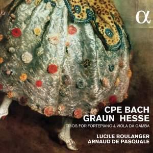 CPE Bach, Graun & Hesse: Trios For Fortepiano & Viola Da Gamba