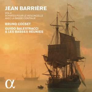 Jean Barrière - Sonatas for Cello & Bass Continuo Vol. 2