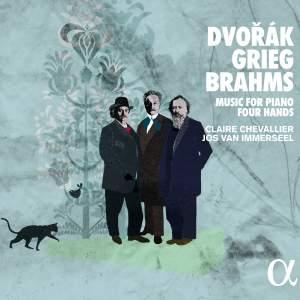 Dvorák, Grieg & Brahms: Music for Piano Four Hands